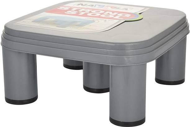 NAYASA Strong No 516 Plastic Patla, Grey Bathroom Stool