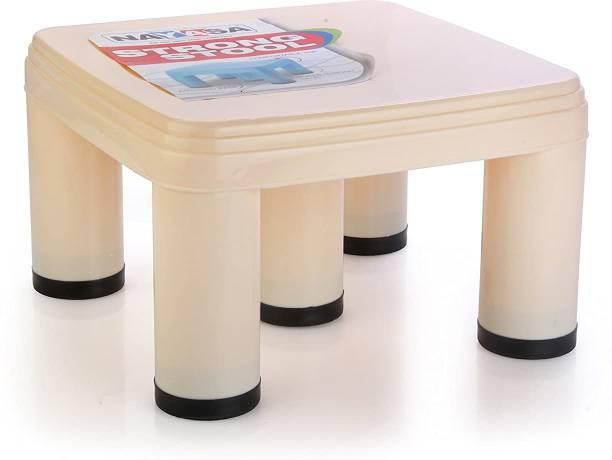 NAYASA Strong No 515 Plastic Patla, Ivory Bathroom Stool