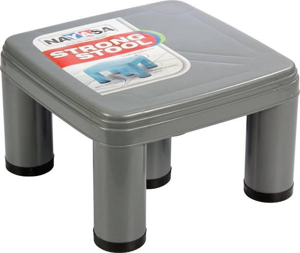 NAYASA Strong No 515 Plastic Patla, Grey Bathroom Stool