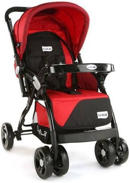 LuvLap Galaxy Stroller Pram Extra Large Seating Space Easy Fold for Newborn Baby/Kids, 0-3 Years Stroller