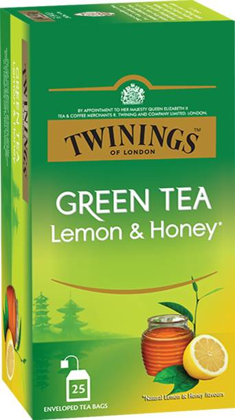 TWININGS Green Tea Lemon & Honey, Sweet Honey & Tangy Lemon Lemon, Honey Green Tea Bags Box