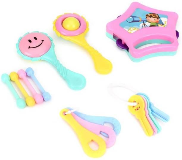 PEZYOX Little Doll Rattle Set 6 pcs. For infant Baby. Rattle Rattle