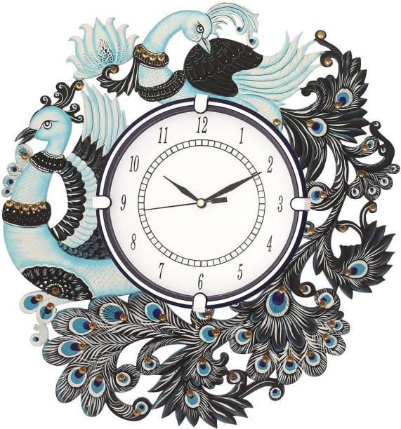 Hermoso Analog 35.5 cm X 33 cm Wall Clock