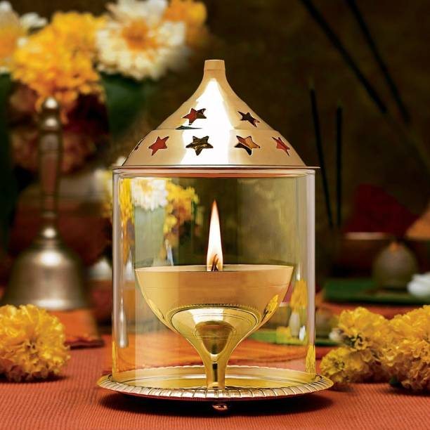 DealFreez Brass Table Diya Set