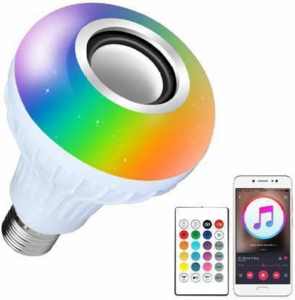 Skynex Multi Color Changing RBG Led Music Light Bulb Bluetooth Music Bulb Led For Party Home Decoration And Night Light WIth 7W RBG LED and 5 W bluetooth Sterio Speaker For Home Party Decoration, Birthday Celibration Night Light Smart Bulb (pack of 5) Smart Bulb