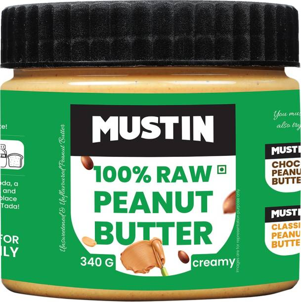 Mustin Raw Peanut Butter Creamy 340 g