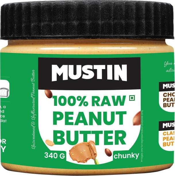 Mustin Raw Peanut Butter Chunky 340 g