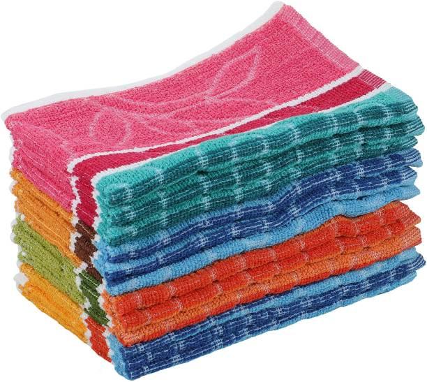 GRGRASP 100% cotton Hand towels,Kitchen Towels soft Napkin Set of 12 Multicolor Napkins