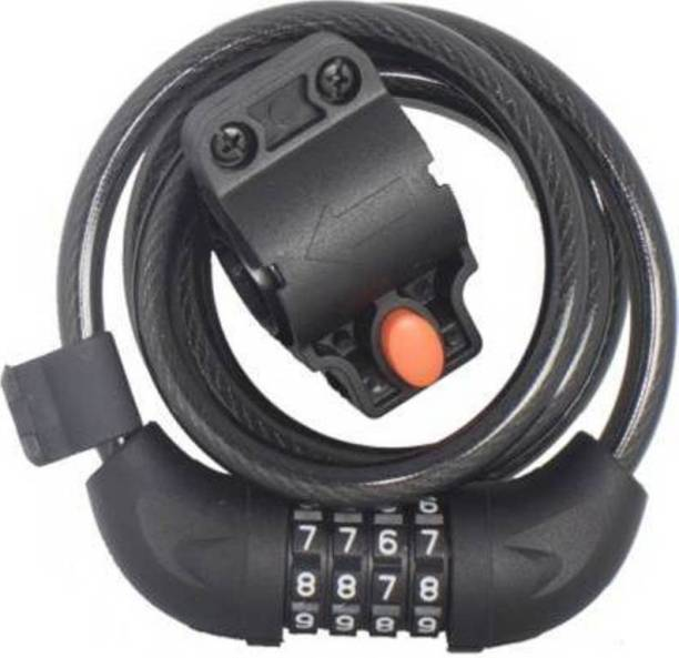 Gadget Deals High quality Lock For Bike Cycle Helmet and Luggage With Mounting Bracket Cycle Lock