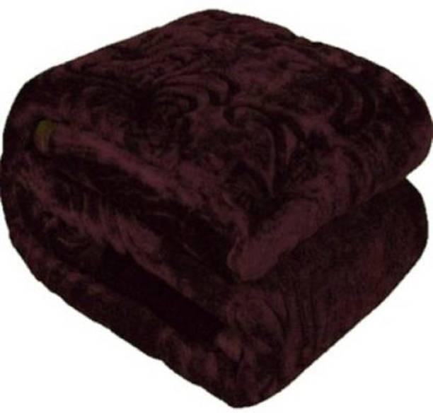 AUBORON Damask Double Woollen Blanket