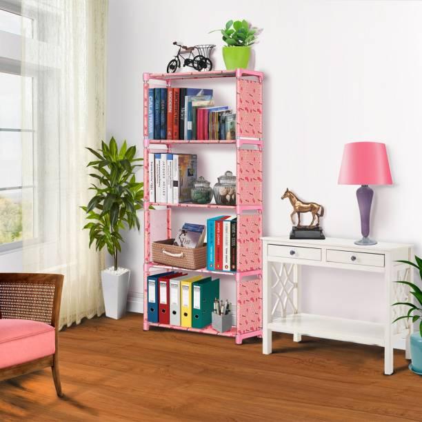 FURIONE LUCKY-PINK 5 SHELVE MULTIPURPOSE Metal Open Book Shelf