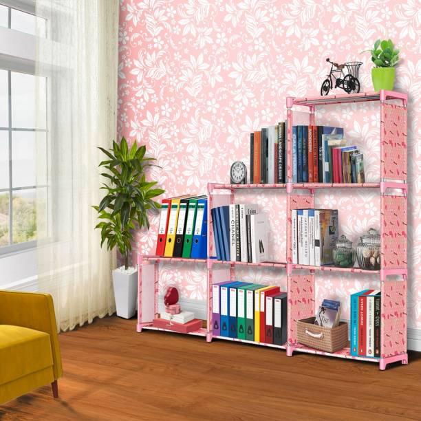 FURIONE LUCKY-PINK 9 SHELVE MULTIPURPOSE Metal Open Book Shelf