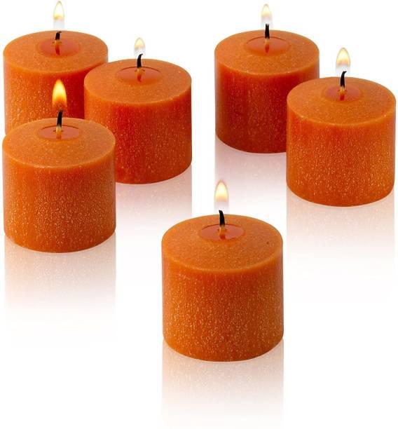 AuraDecor Set of 6 Mandarin Fragrance Votive Candle Candle