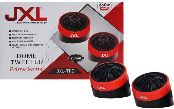 JXL Dome High Efficiency Tweeter for Cars 360W MAX (Pair) T110 Tweeter Car Speaker