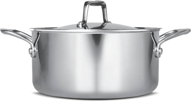 MILTON Pro Cook Triply Stainless Steel Casserole with Lid Cook and Serve Casserole