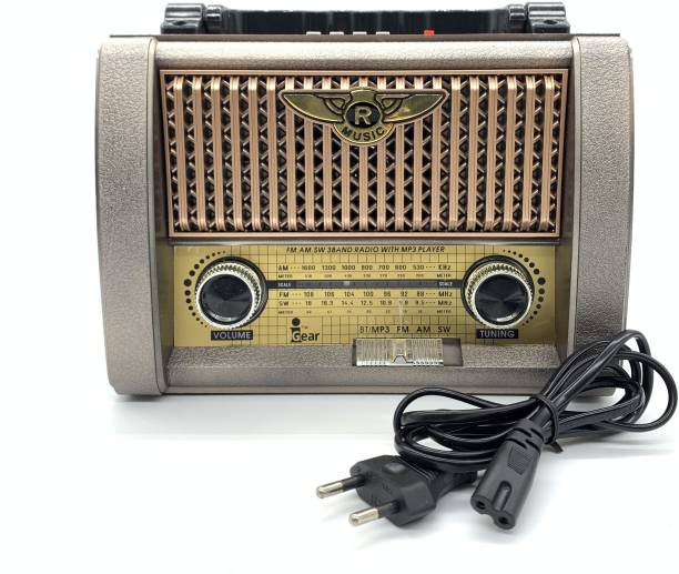 iGear Retro Classic Vintage Radio with Bluetooth Connectivity, USB and TF/SD Card Support, 900 mAh Rechargeable Battery, Built-In High quality Torch FM Radio