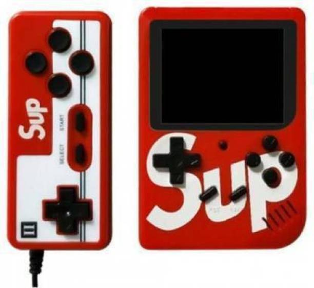 Mdpap Sup Game with remote control 400in1 Games(Red) with Mario, snow bros, Contra, Adventure island and other retro Games