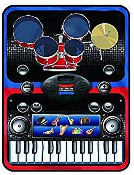 Smartcraft Piano Series, Children 2-in-1 Musical Jam Playmat,Electric Musical Playmat Toy Above 3 Years - Multicolor, (Battery Included)