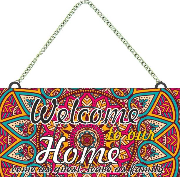 Brothers creation Wooden Welcome to Our Home wall name plate Name Plate