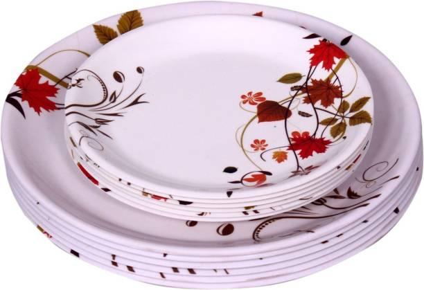 Carnival SELECT(102)Full and Half Dinner Plate Set 12 Pcs of Melamine Dinner Plate