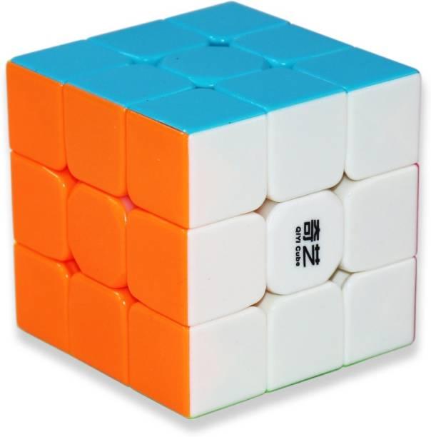 Tector QiYi Warrior 3x3x3 High Speed Stickerless Magic Puzzle Cube - Multicolor