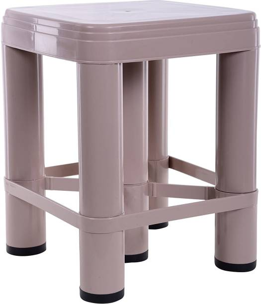 NAYASA Stool (Glossy Finish, Brown, Stool_518_XL_Brown) Bathroom Stool