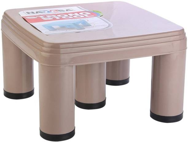 NAYASA Strong No 517 Plastic Patla, Brown Bathroom Stool