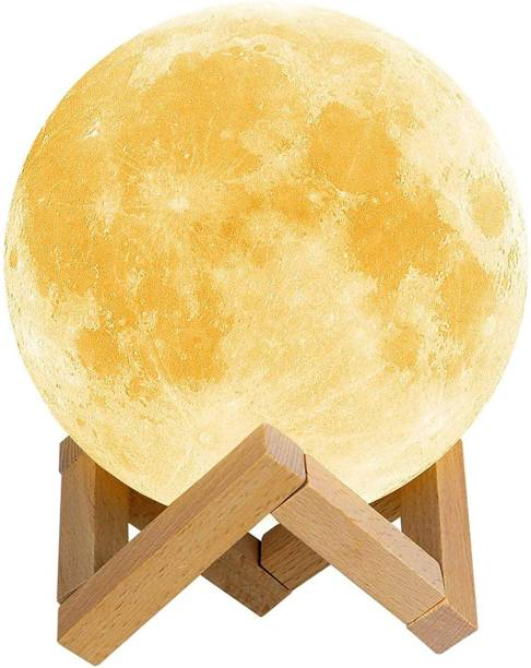 ENJOY Moon Lamp Color Changing Sensor Touch Crystal Ball Night Lamp with Wooden Stand, Bedroom Lamp, Night Lamp for Bedroom Mode Home Decoration Light Night Lamp