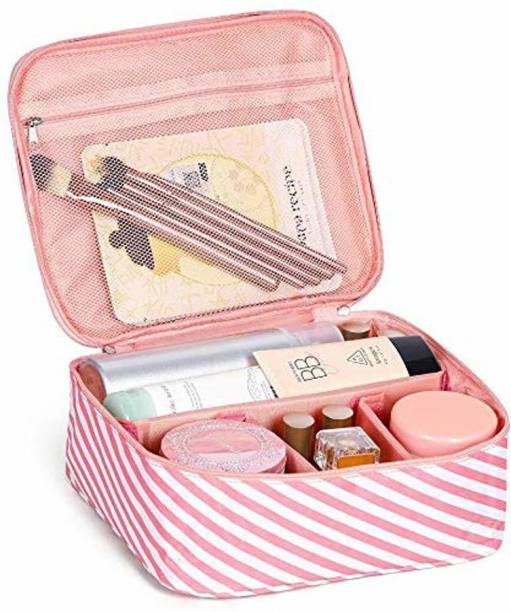 Wengvo Travel Portable Travel Makeup Cosmetic Bags Organizer Multifunction Case Travel Bags for Women makeup, jewelry Vanity Box