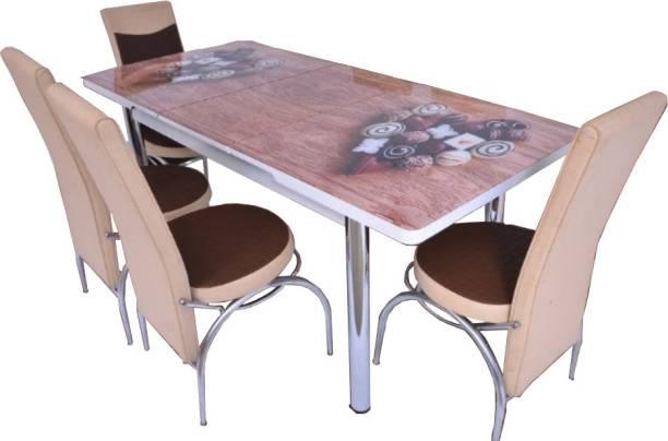 LOYAL FURNITURE SKU-101-4C Engineered Wood 4 Seater Dining Set