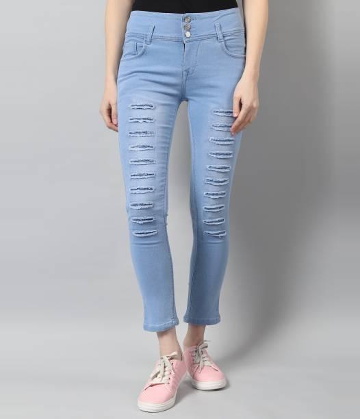 TYFFYN Slim Women Light Blue Jeans