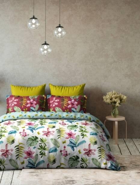 DDECOR Live beautiful Floral Double Comforter