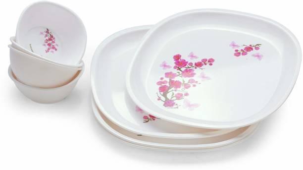Oliveware Pack of 8 Plastic Dinner Set