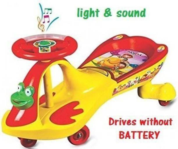 baby tone B.T Panda Twist and Swing Magic Car, Ride on car for Kids with Steering Lights and Music for Boy's and Girl's (Red, Age 1 to 4 Years) Car Battery Operated Ride On