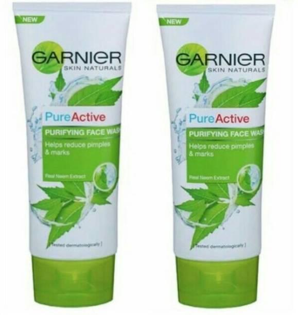 GARNIER pure active purifying neem face wash face wash 200gm(pack of 2*100gm) Face Wash