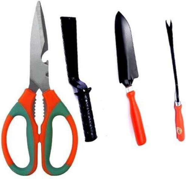 Flipkart SmartBuy Garden Scissor, Khurapi 2 Inch, Small Trowel and Weeder, Garden Tool Set Garden Tool Kit