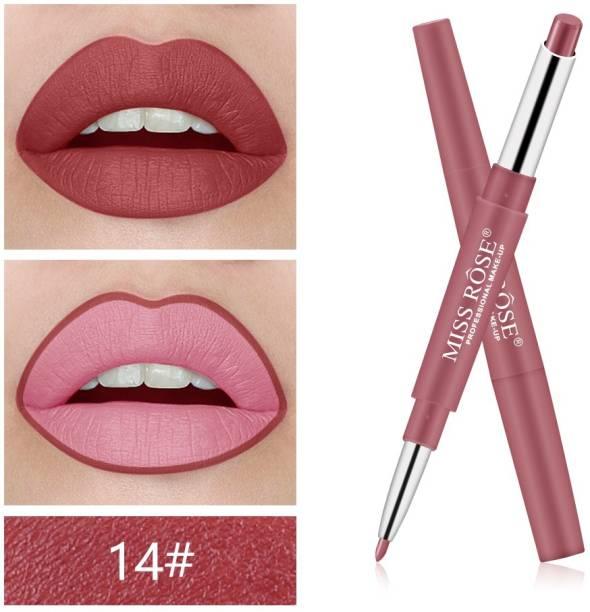 MISS ROSE Marvellous 2 in 1 Lipsticks Pen Moisturizing Lip Liner (14)