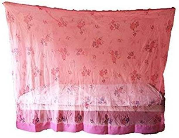 Shri Ashu Creation HDPE - High Density Poly Ethylene Adults PRINTED PINK OF SIZE Mosquito Net
