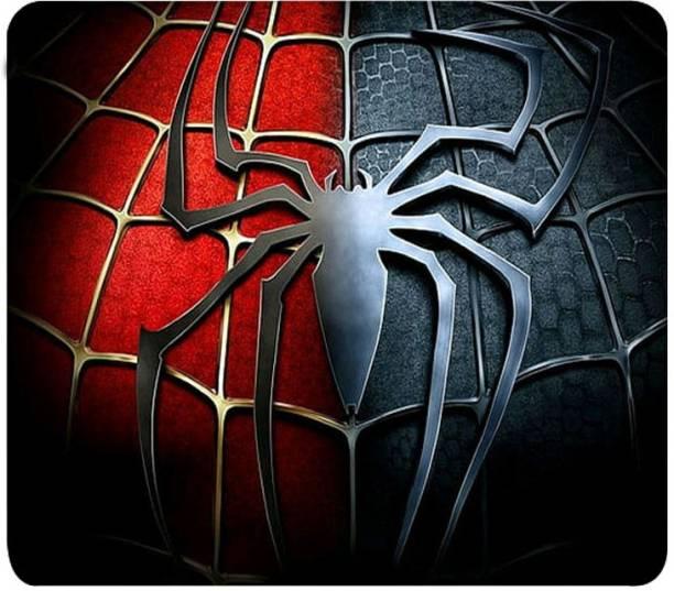 Aditi Designs Red Gray Spider Makri theme Mousepad
