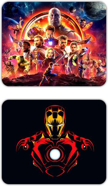 NOCKOUT Big Size Designer Gaming Non-Slip Rubber Base Mouse pad for Laptop and Computer(Pack of 2) | Large (24 cm * 20 cm, Combo)-CBMP_4119U Mousepad