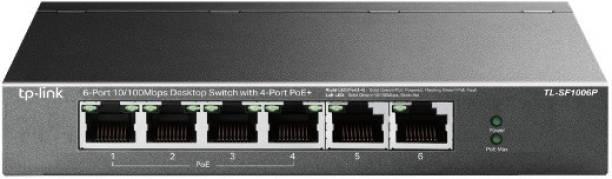 TP-Link TL-SF1006P 6-Port 10/100Mbps Desktop Network Switch with 4-Port PoE+