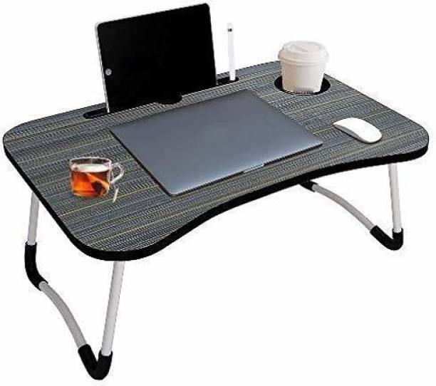 nilkanth Study Table/Bed /Foldable/Non-Slip Wood Portable Laptop Table