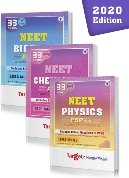 33 Years NEET And AIIMS & AIPMT PCB (Physics, Chemistry, Biology) Chapterwise Previous Year Solved Question Paper Books (PSP) | Topicwise MCQs With Solutions | 1988 To 2020 | Smart Tool To Crack NEET 2021