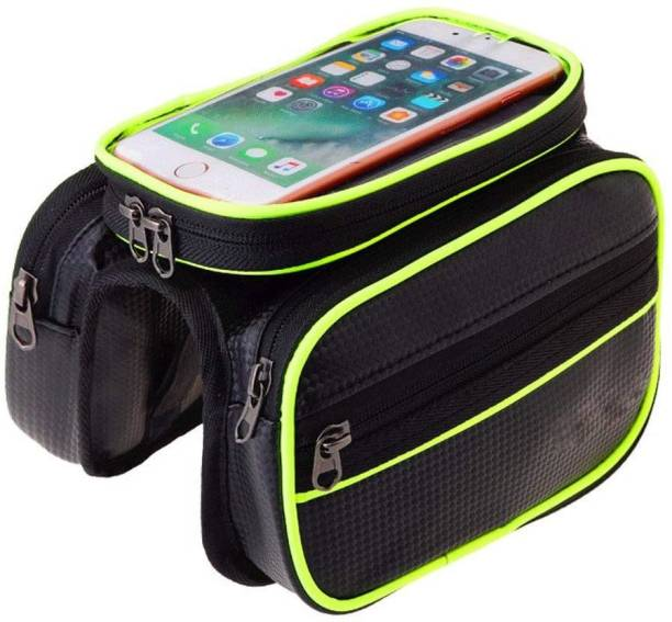 TUHI Waterproof Touch Screen Bicycle Beam Package Bag Multipurpose Storage Carrier Bicycle Phone Holder
