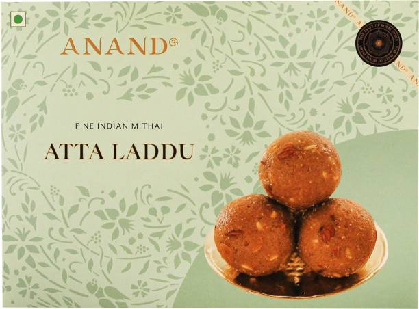 Anand Atta (Gond) Laddu - Made with Pure Ghee and Infused with Almonds, Cashews and Pistachio Nuts Box
