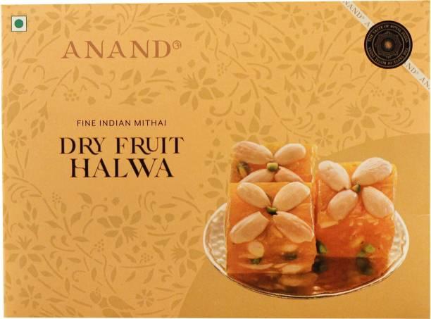 Anand Dry Fruit Halwa (Karachi Halwa) Pure Ghee Mithai with Crunchy Cashews, Almonds and Pistachios Box