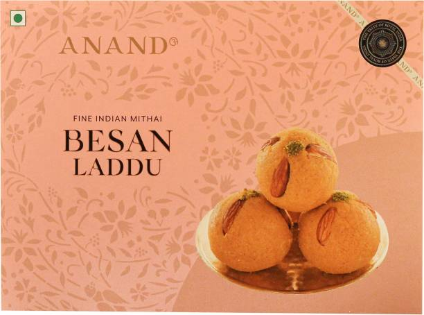 Anand Besan Laddu - Flavour of Pure Desi Ghee and Almond and Cashew Chunks Box