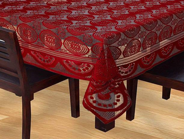 KUBER INDUSTRIES Geometric 6 Seater Table Cover