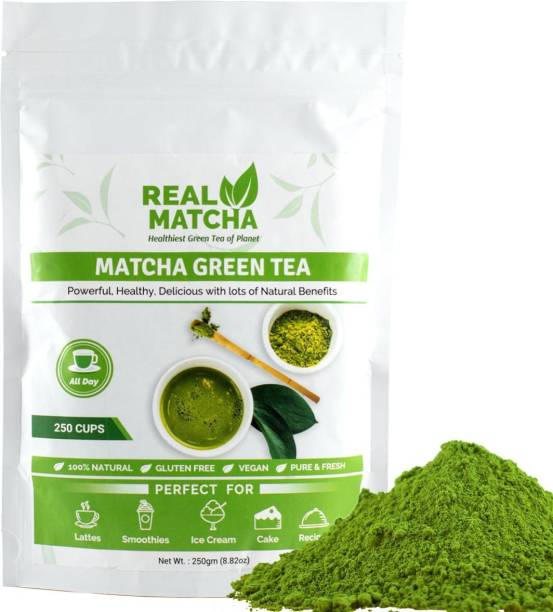 Real Matcha Green Tea Powder for Weight Loss - Best for Making Matcha Tea, Lattes, Smoothies, Baking, Iced Tea & Ice Cream - (Powerful Body Detoxifier, Antioxidant, Fat Burner, Increase Energy & Focus), Origin Japan (250 Cups) Unflavoured Matcha Tea Pouch