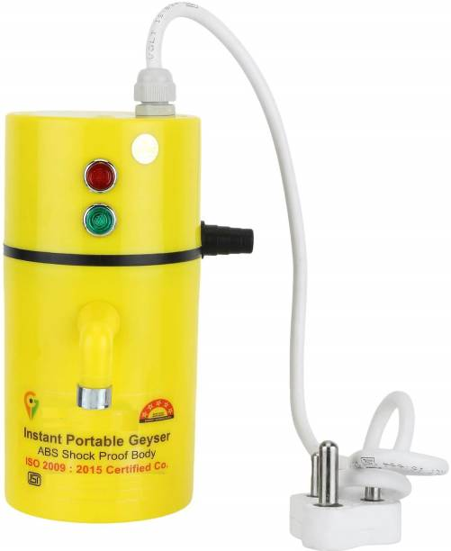 UltinoPro 75 L Instant Water Geyser (ULTino-Pro (Indias) Instant Electric Water Geyser    ABS Body- Shock Proof    Electric Saving   24 Month replacement Warranty (Yellow), Yellow)